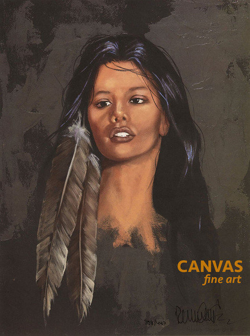 """Penni Anne Cross """"Kendra"""" Native American Canvas Art Signed & Numbered L/E"""