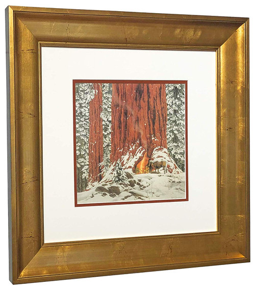 Bev Doolittle 'Christmas Day Give or Take a Week' Matted & Framed WSS L/E
