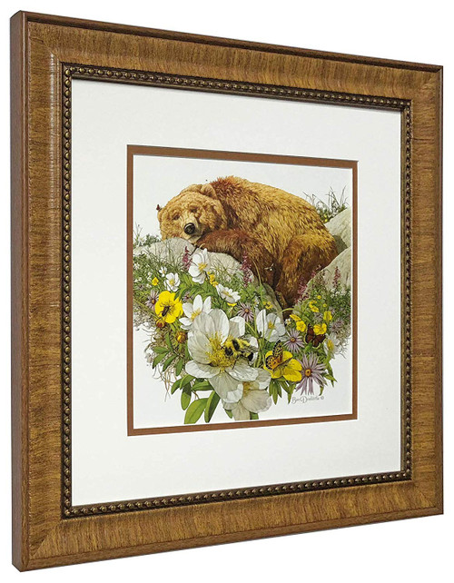 "Bev Doolittle ""Bugged Bear"" Matted & Framed Fine Art Print"