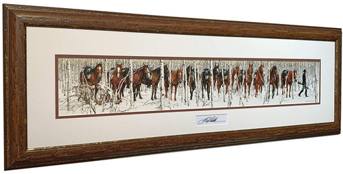 """Bev Doolittle """"Two Indian Horses"""" with Artist Signature Matted & Framed Print WSS L/E"""