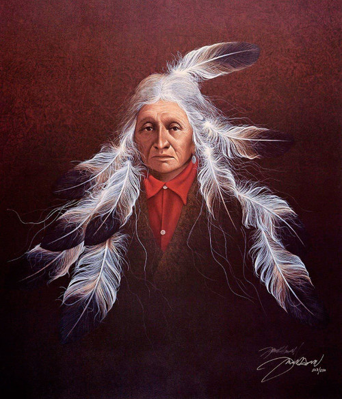 """Frank Howell """"SYMPHONY II"""" Native American Indian Canvas Signed and Numbered"""