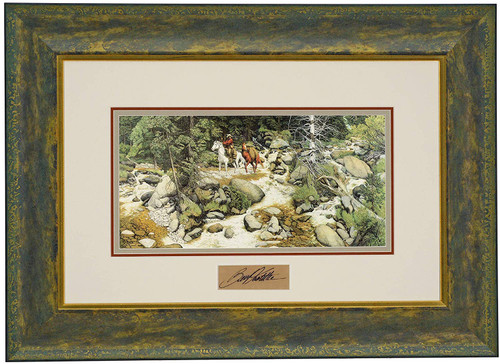 "Bev Doolittle ""The Forest Has Eyes"" with Artist Signature Matted & Framed Print WSS L/E"