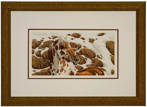 "Bev Doolittle ""Hide and Seek - A"" Pinto Matted and Framed L/E"