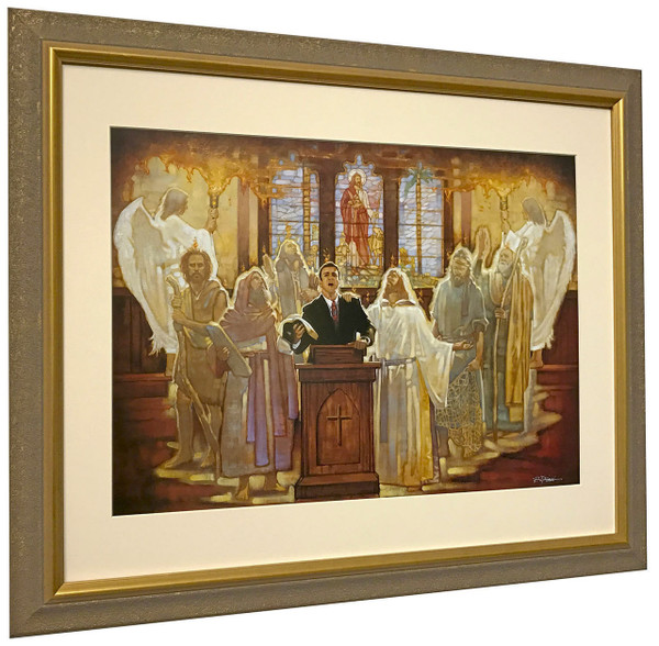 "Ron DiCianni ""The Legacy"" Church Preacher Matted and Framed Art Print"