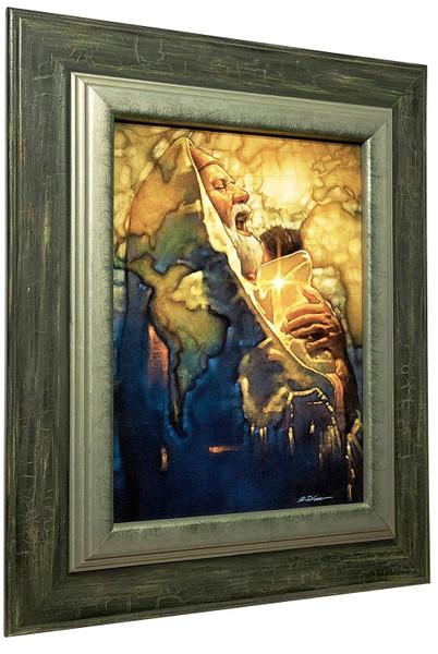 "Ron DiCianni ""Simeon's Moment"" Jesus Child Canvas Framed Art"