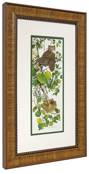 "Bev Doolittle ""Whoo Whoo?"" Owl Beaver - Matted & Framed Fine Art Print"