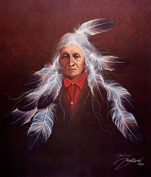 "Frank Howell ""SYMPHONY II"" Native American Indian Canvas Signed and Numbered"