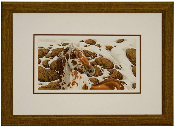 """Bev Doolittle """"Hide and Seek - A"""" Pinto Matted and Framed L/E"""
