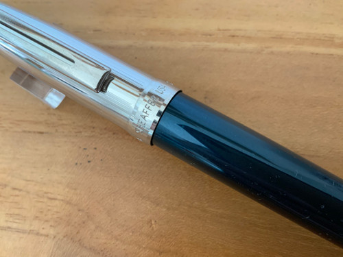 Prelude 9053 Petrol/Palladium NT USA (Sheaffer) Fountain Pen - Medium Nib