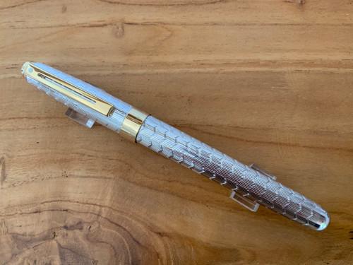 Prelude 9170 Signature Collection - Silver Plate Snake Skin Pattern Fountain Pen - Medium Nib