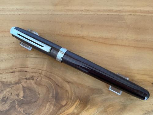 Prelude Prototype Brown Laque Engraved Prototype NT Fountain Pen - Medium Nib