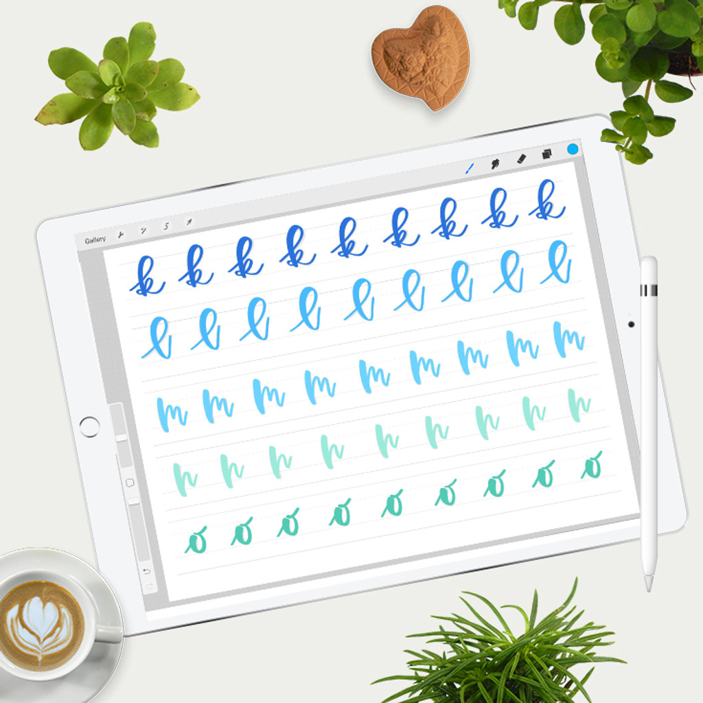 Bouncy Letters Practice Sheets for iPad Pro