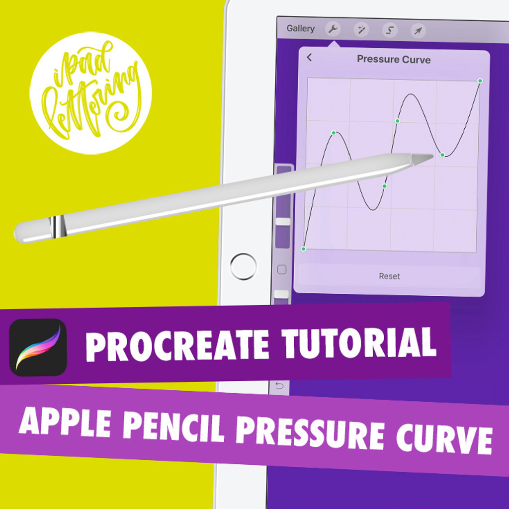 How to adjust the Apple Pencil pressure curve in Procreate