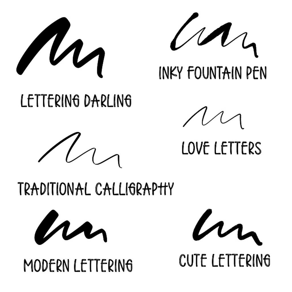 Dream Lettering Brushes