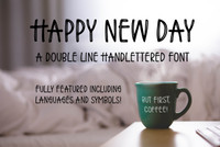 Happy New Day Font Extended