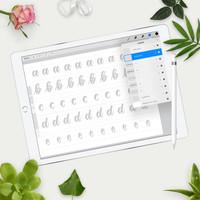 Practice Sheets for iPad Pro - Brush Script