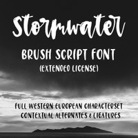 Stormwater Script Font Extended