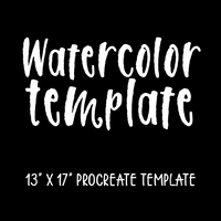 Watercolor Template