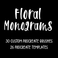 Step by Step Florals Monograms