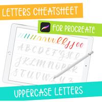 iPad Lettering Cheatsheet - Uppercase Letters