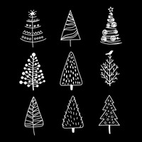 Christmas Tree Doodles