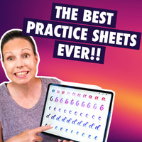 Rainbow Letters Practice Sheets Tutorial