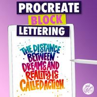 Procreate Block Letters on iPad with Apple Pencil