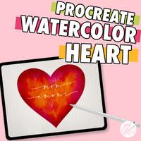 Procreate Watercolor Heart