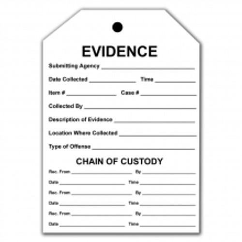 Evidence Custody Combo Tag
