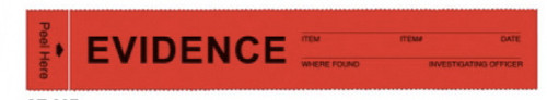 Evidence Tape Red - Write-on Sawtooth Precut Strip