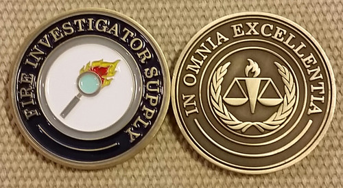 Challenge Coin-Fire Investigator Supply