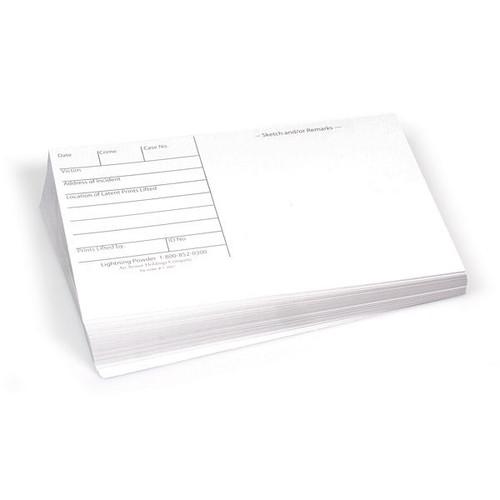 Fingerprint (Latent) Backing Cards - White