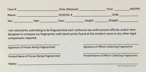 Elimination Fingerprint Cards