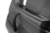 Up close to the race style nylon door pull strap (included) for closing door. Shown in textured finish