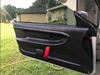 IG: @greg.firn122From old peeling leather door panels to replacement @hardmotorsport door panels. With a slight modification. Custom red door pulls.