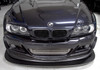 Front view of the BMW E46 Dive Plane / Aero Canards on a customers car. Also shown with a HARD Motorsport E46 front Splitter