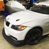 BMW E9x M3 Front Splitter Shown Installed on our HARD Motorsport race car  M-TECH FRONT BUMPER