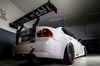 """APR 71"""" carbon fiber Spoiler for use with the HARD Motorsport BMW E90 Uprights on an E90"""