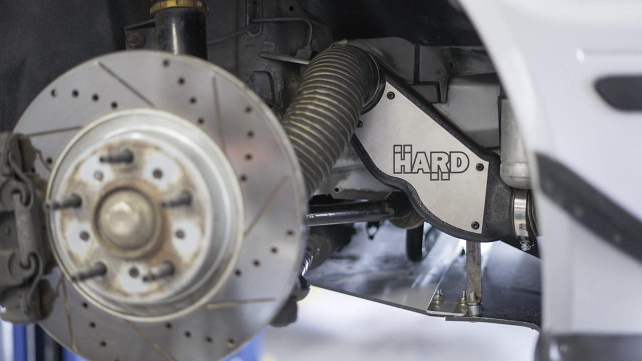 HARD Motorsport - BMW E46 M3  Brake Cooling Ducts installed on customer car