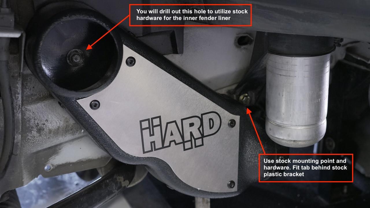 HARD Motorsport- BMW E46 M3 Brake Cooling Low-Profile Duct Kit (PAIR)