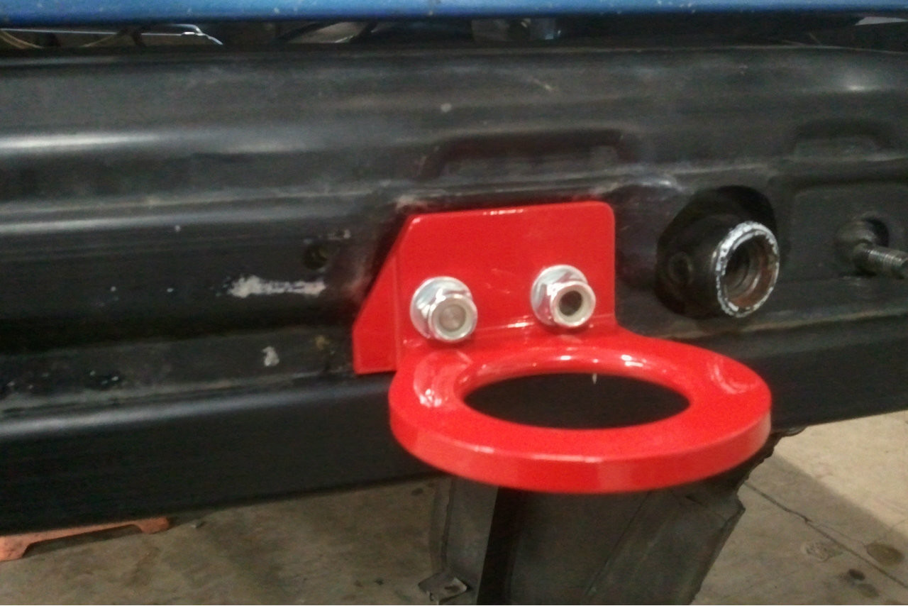 Bmw E36 M3 Tow Hook with bumper cover off