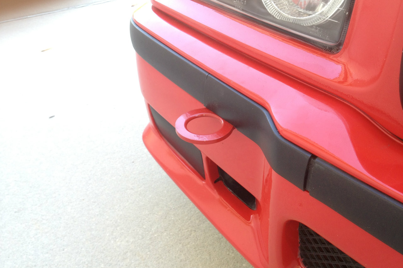 Hard Motorsport Stw Bmw E36 M3 Tow Hook installed on a M3
