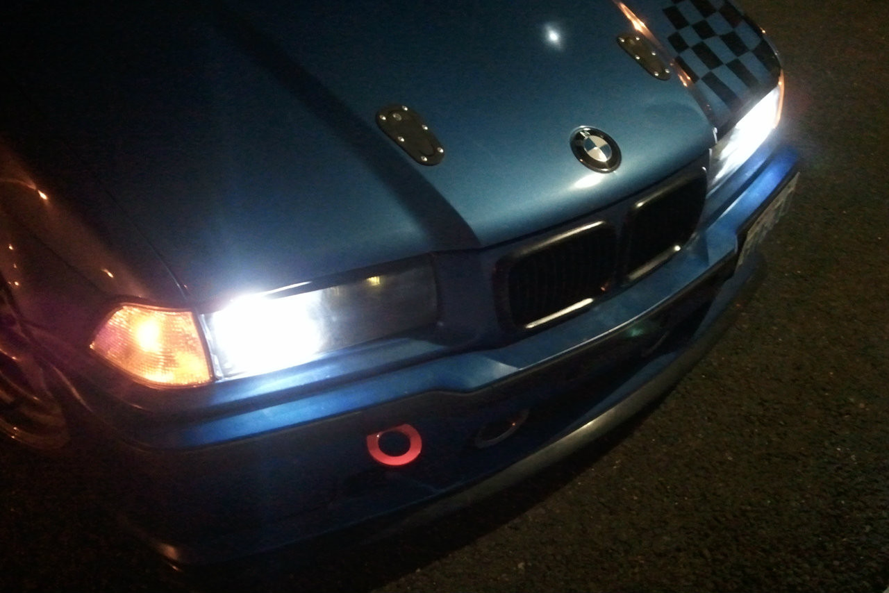 Hard Motorsport Stw Bmw E36 M3 Tow Hook at night
