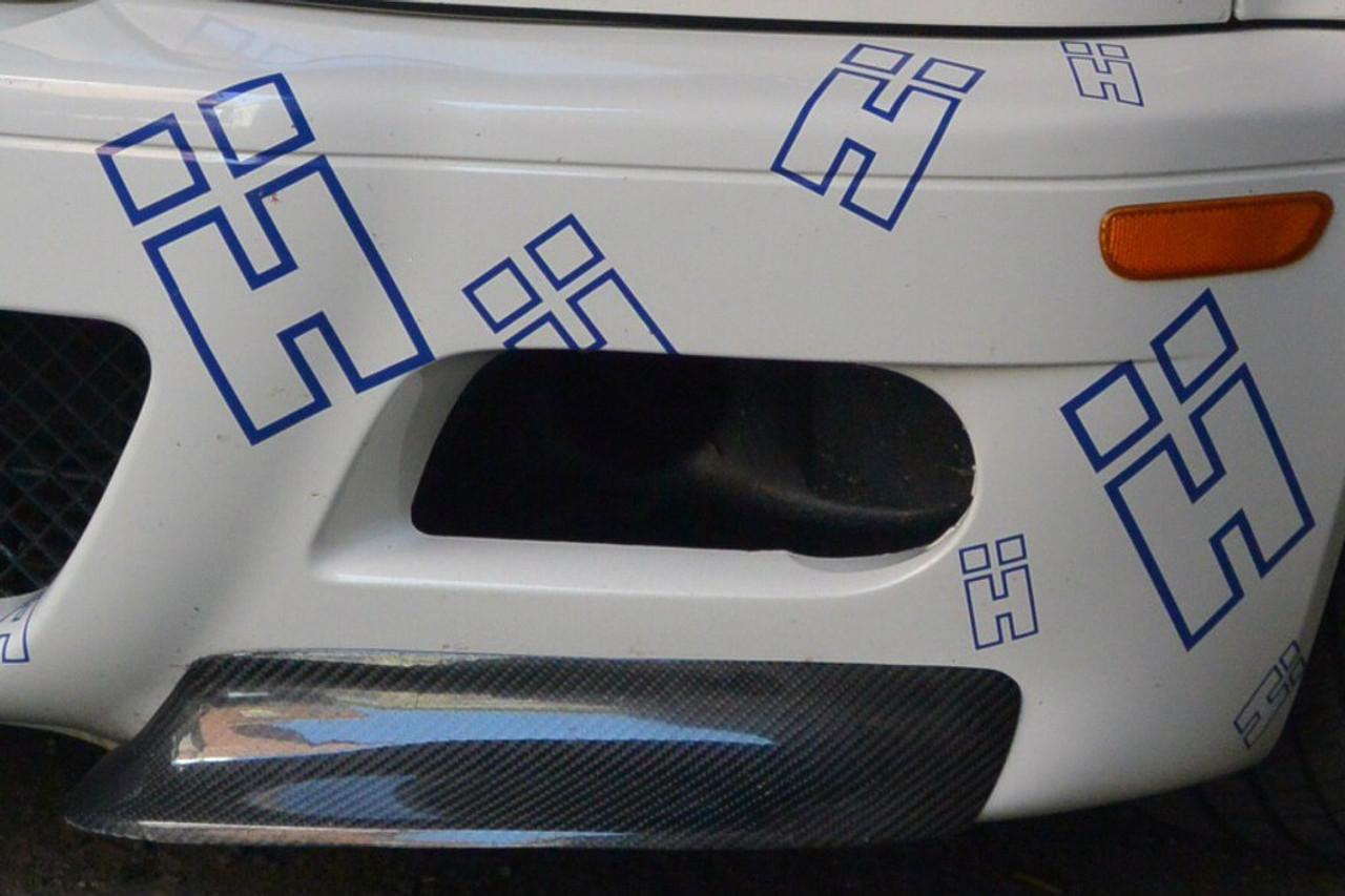 HARD Motorsport E46 M3 Brake Duct Inlets and Fog Light Delete installed