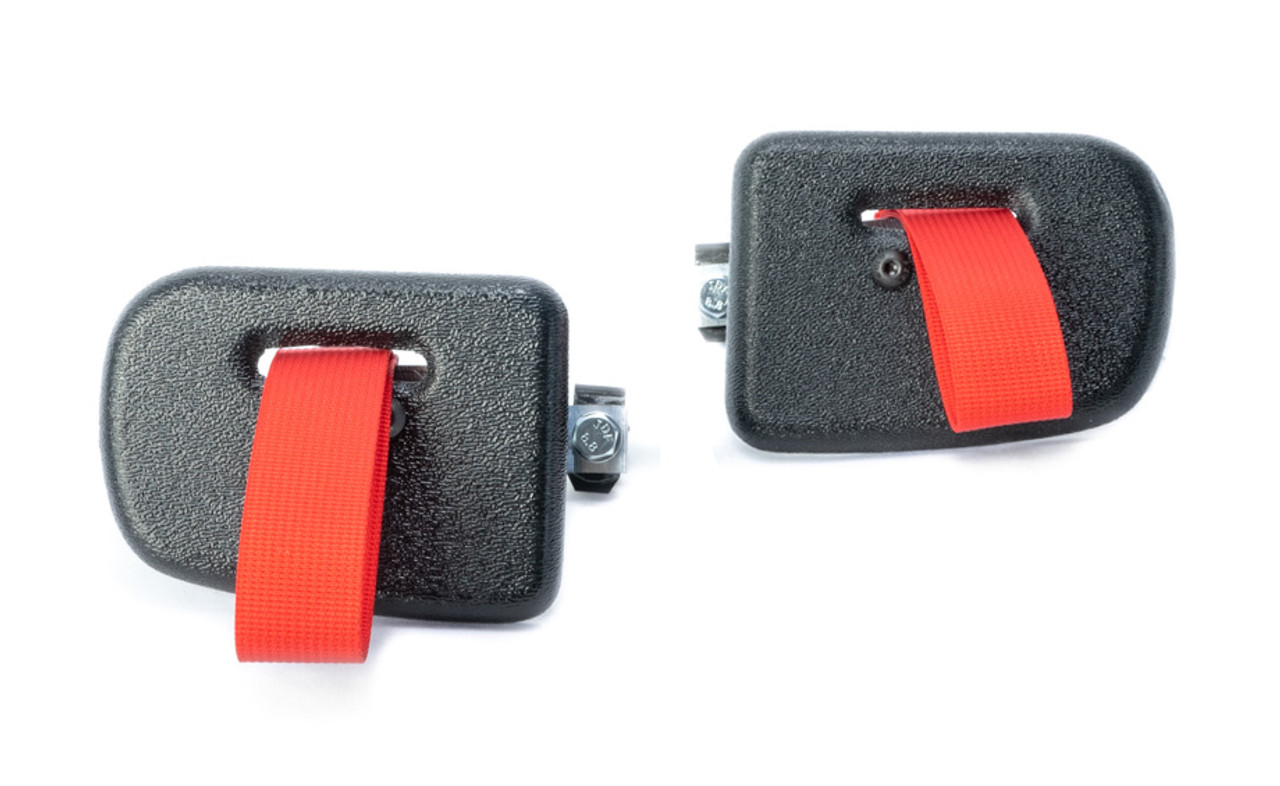 RS Style Door Latch Pull Strap Kit for BMW E36 M3 Coupe. Shown in red