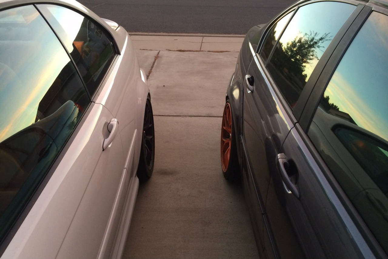 HARD Motorsport BMW E46 M3 Fender Flares for E46 Sedan Compared to a OEM E46 M3 Rear