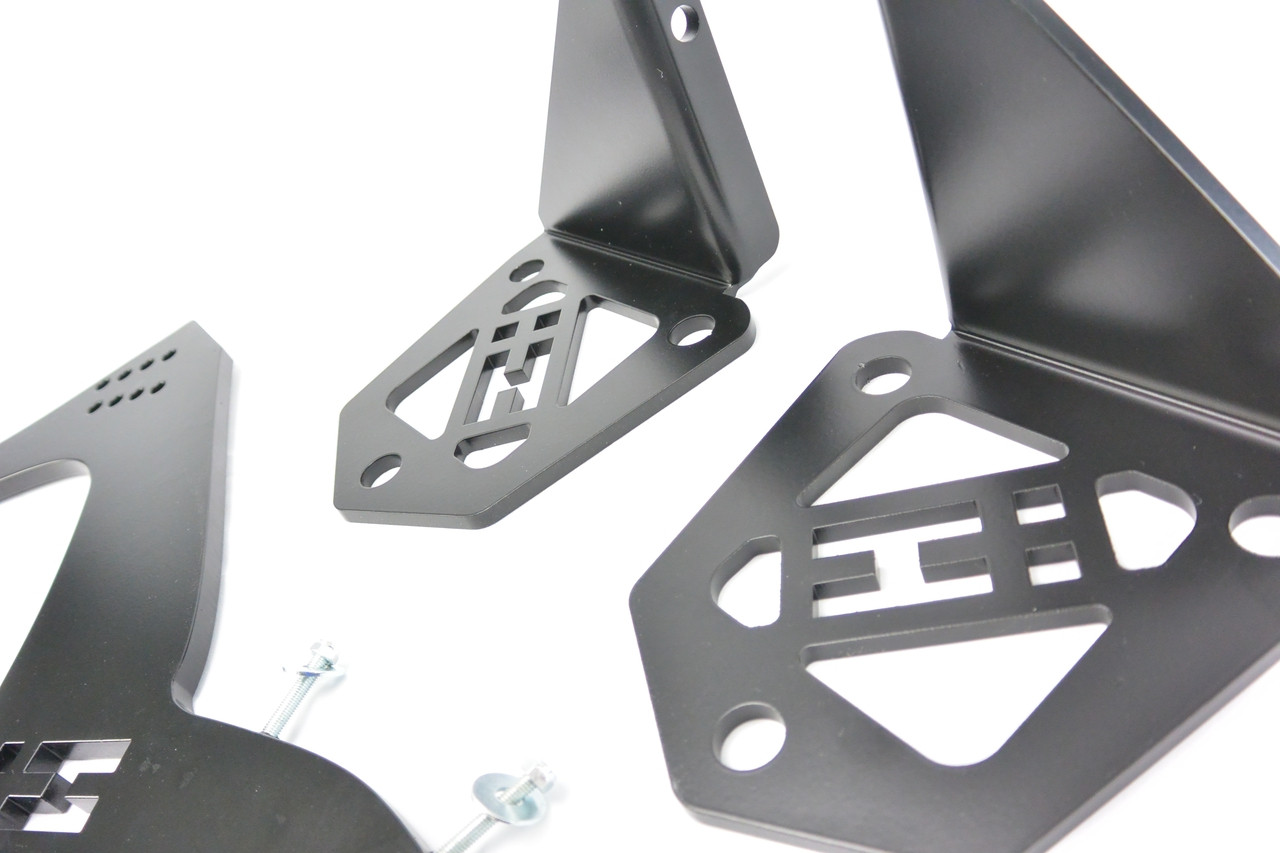 Rear Chassis mount brackets for BMW E90 Uprights. Bolts into factory hardware.