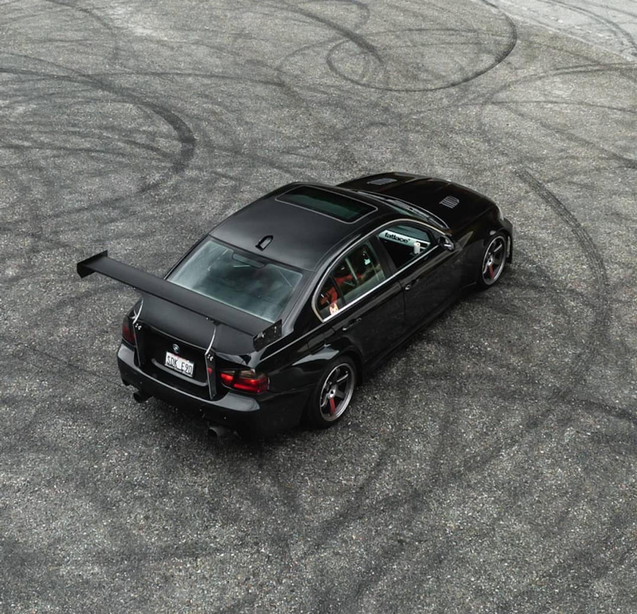 HARD Motorsport - BMW E90 Chassis-Mount Spoiler Upright Kit