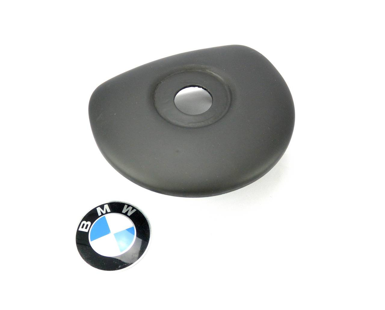 SRS Airbag Delete for BMW E9X Steering wheel. Steering Shaft Bolt access hidden under roundel. Roundel included with purchase.