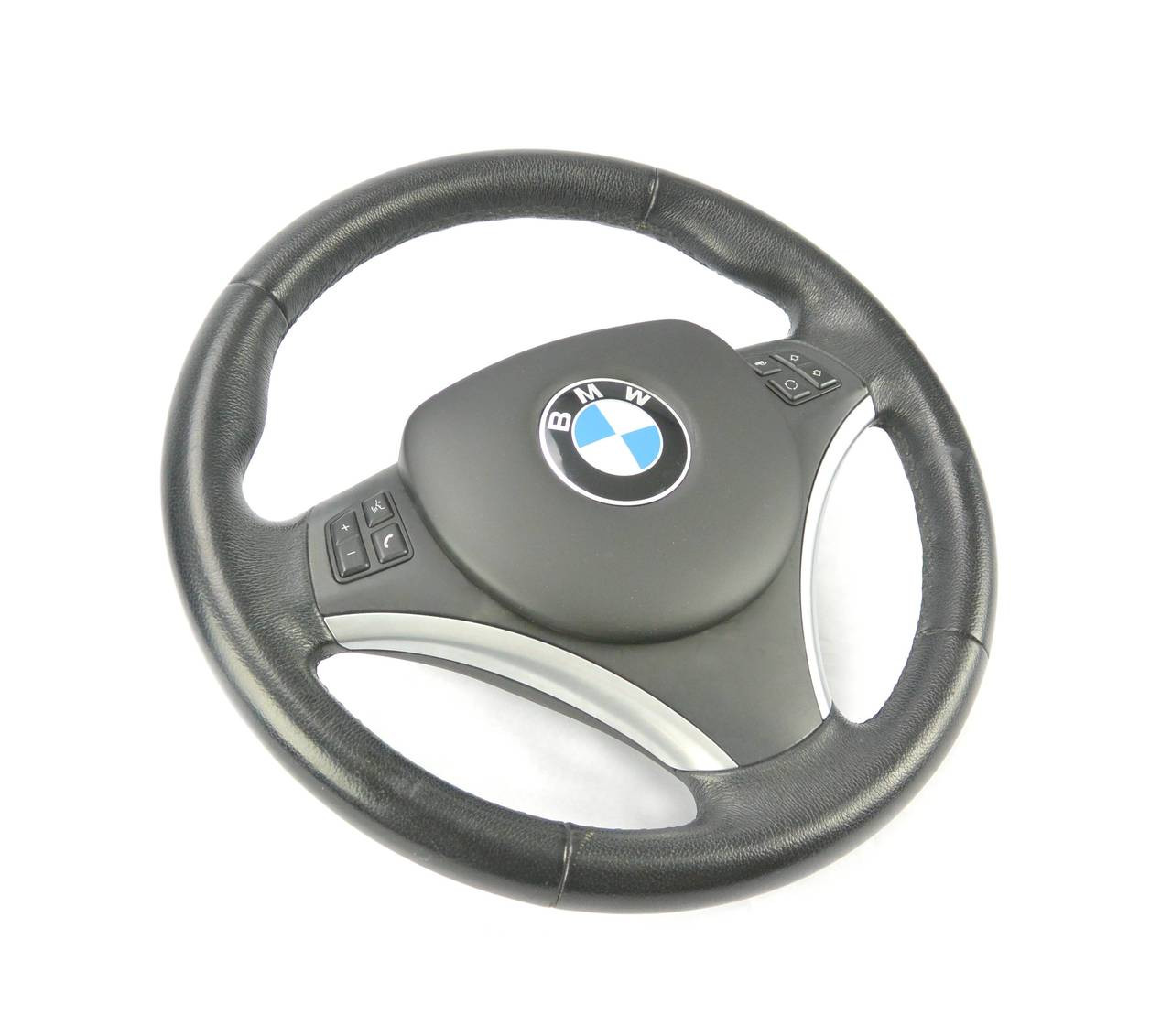 BMW E9X Steering Wheel SRS Airbag Delete Panel fully installed.